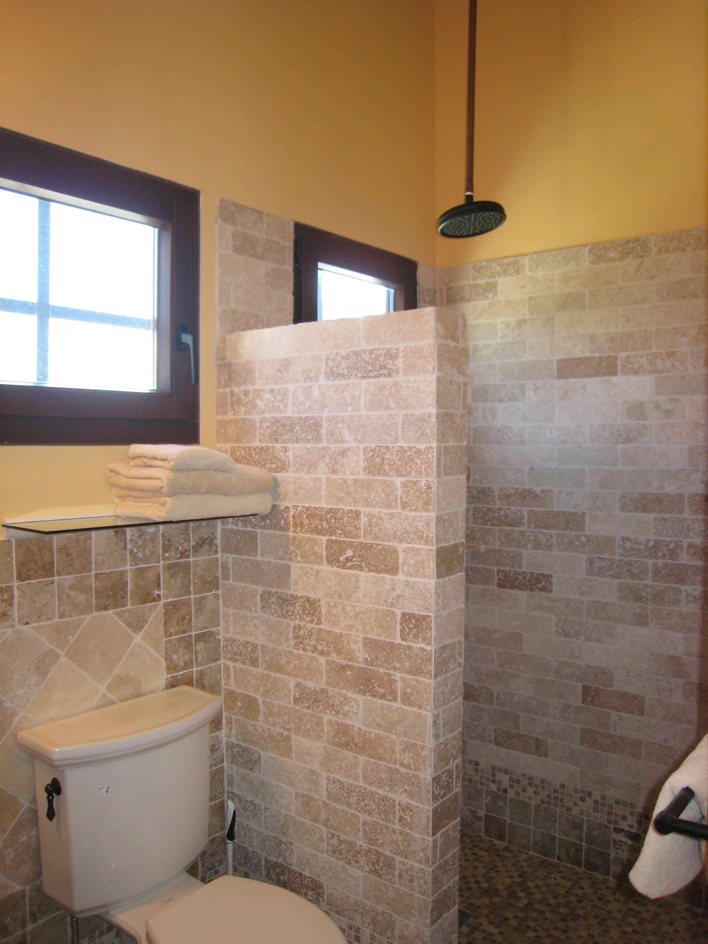 bathroom and stand-up shower